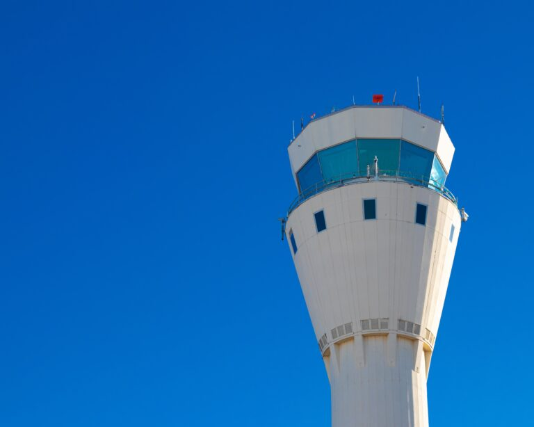 Control tower of air traffic controllers